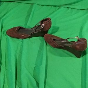 Naturalizer Shoes - Naturalizer Mary Jane suede cranberry red size 6.5